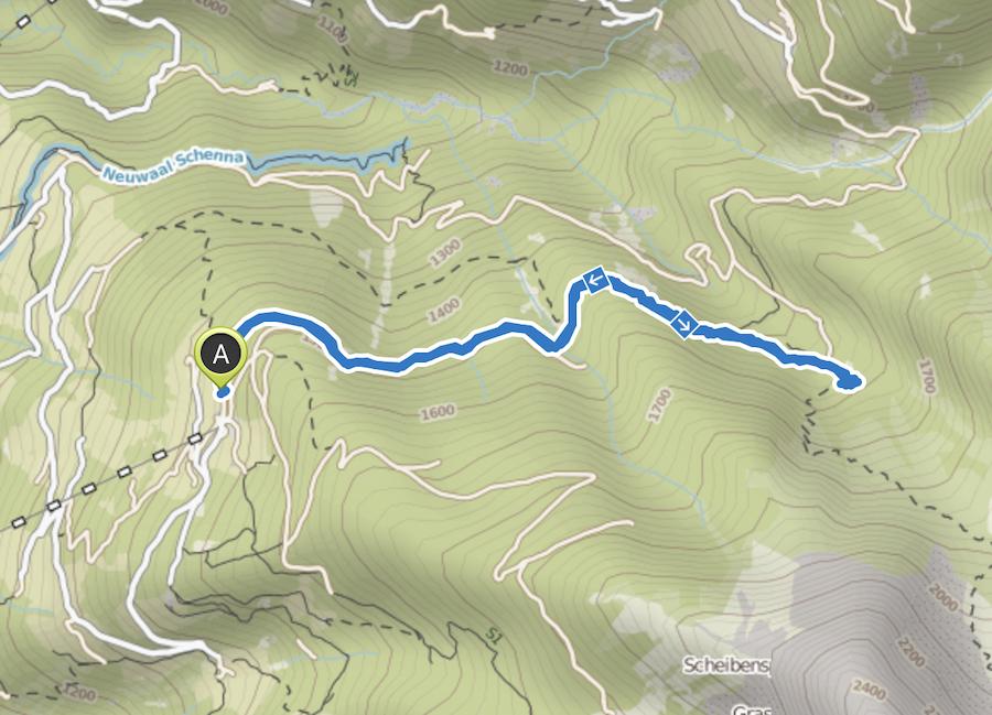 Schenna Wandern - Streitweideralm - Suedtirol - A Tasty Hike - Wanderkarte
