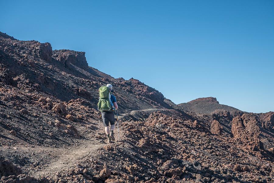 A Tasty Hike - Wandern auf Teneriffa - Montana Samara - Bergauf