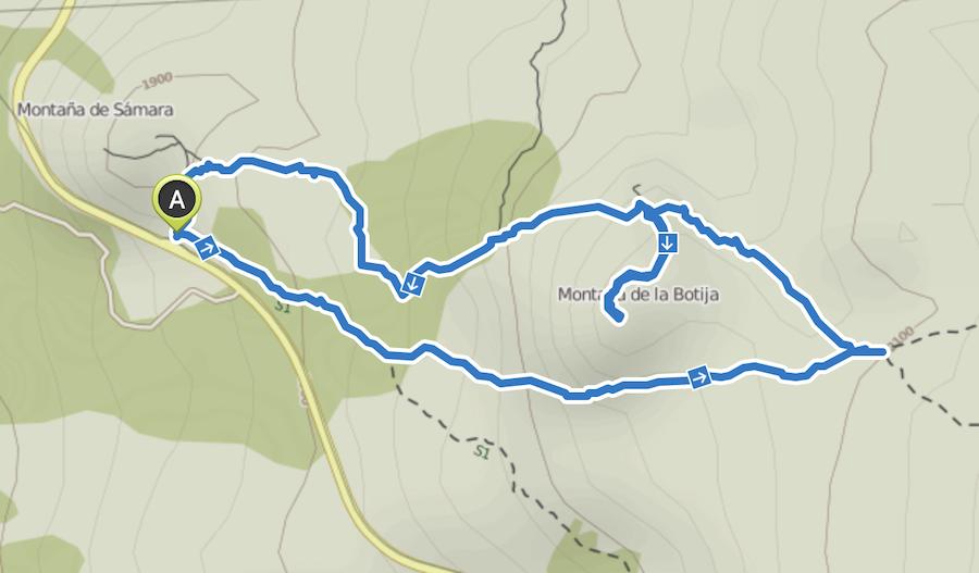 A Tasty Hike - Wandern auf Teneriffa - Montana Samara - Wanderkarte