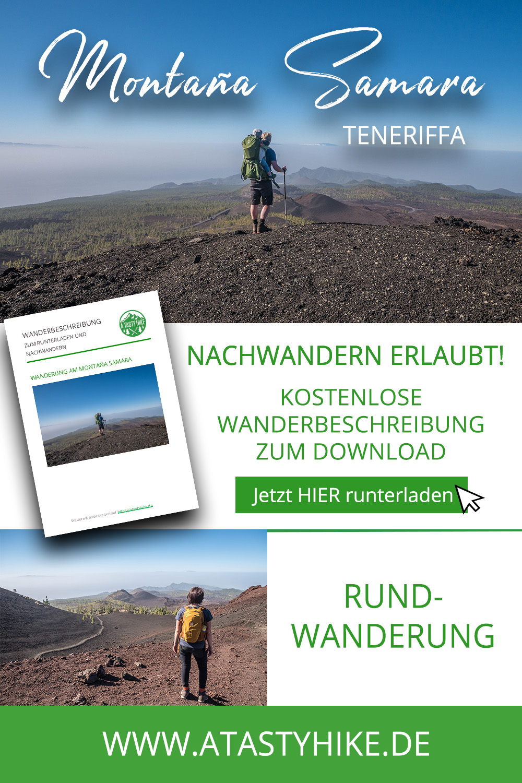Teneriffa wandern: Leichte Rundwanderung am Montaña Samara im El Teide Nationalpark {enthält Werbung}
