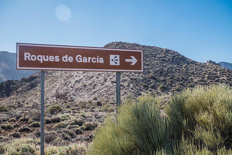 A Tasty Hike - El Teide Gipfel Teneriffa - Wanderung Roques de Garcia - Schild