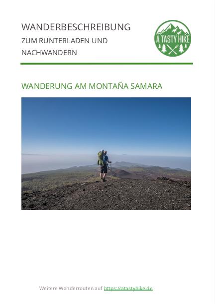 Wanderung Montana Samara Teneriffa - Wanderbeschreibung