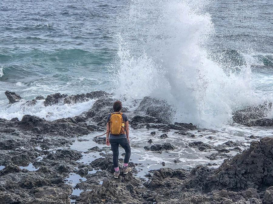 A Tasty Hike - Kuestenwanderung - Teneriffa - Malpais de Gueimar - Wellen