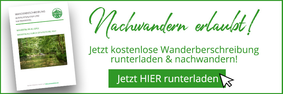 A Tasty Hike - Eistobel Isny im Allgaeu - Wanderbeschreibung Banner
