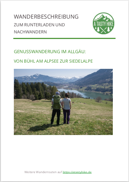 Wanderung zur Siedelalpe im Allgäu - Wanderbeschreibung