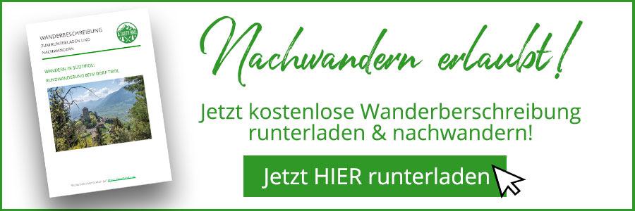 A Tasty Hike - Dorf Tirol Wandern - Suedtirol - Wanderbeschreibung Banner