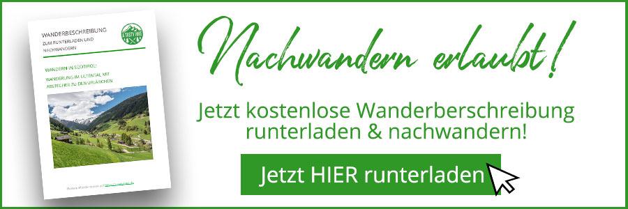 A Tasty Hike - Ultental Suedtirol - Ultental Wandern - Wanderbeschreibung Banner