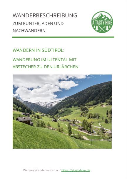 A Tasty Hike - Wanderung Ultental in Südtirol