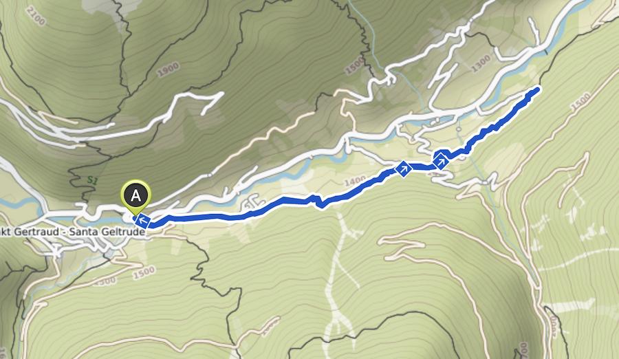 A Tasty Hike - Ultental Suedtirol - Ultental Wandern - Wanderkarte