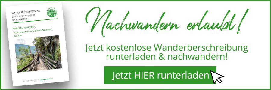 A Tasty Hike - Waalweg Lana - Suedtirol - Brandiswaalweg - Wanderbeschreibung Banner