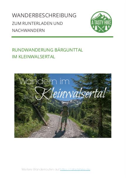 Wanderung im Baergunttal - Wanderbeschreibung