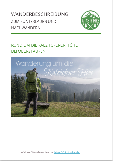 Wandern in Oberstaufen - Wanderung Kalzhofener Hoehe - Herunterladbare Wanderbeschreibung