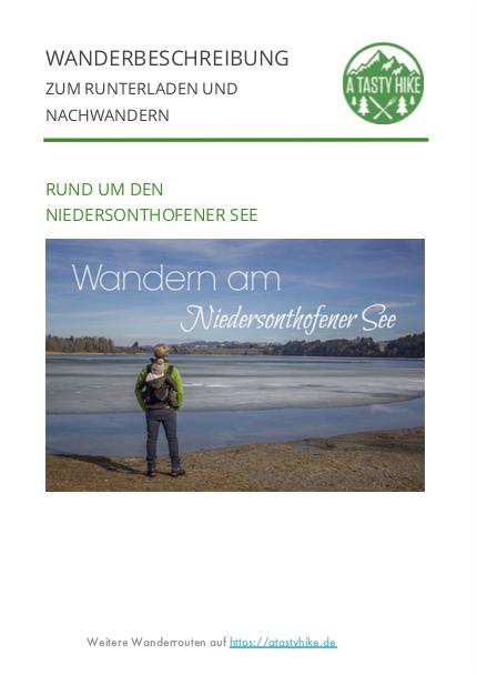 Wanderung Niedersonthofener See - Wanderbeschreibung