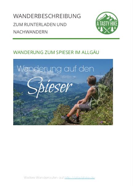Oberjoch Wandern - Wanderung zum Spieser - Wanderbeschreibung