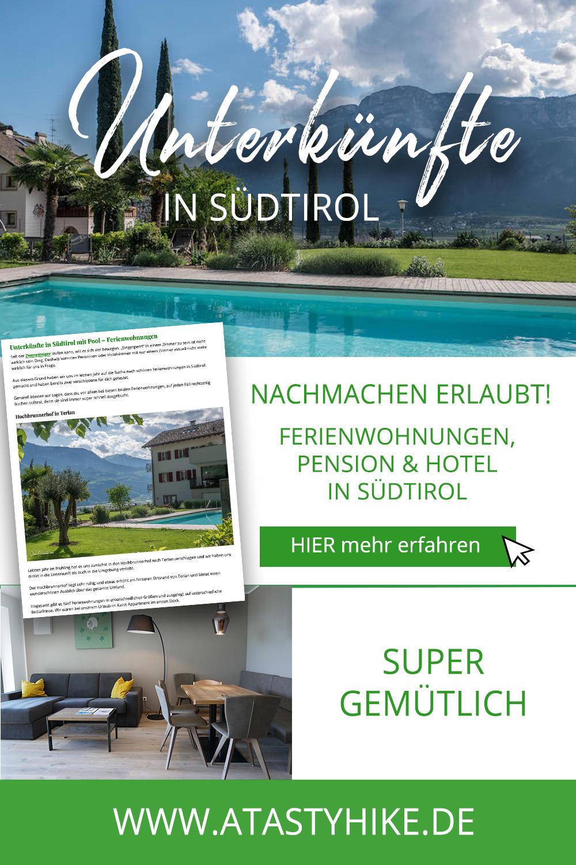 Fünf tolle Unterkünfte in Südtirol mit Pool für deinen nächsten Wanderurlaub in Südtirol