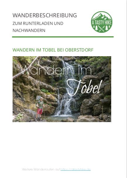 Wandern im Tobel bei Oberstdorf - Wanderbeschreibung