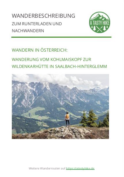 Wanderung am Kohlmaiskopf in Saalbach - Wanderbeschreibung