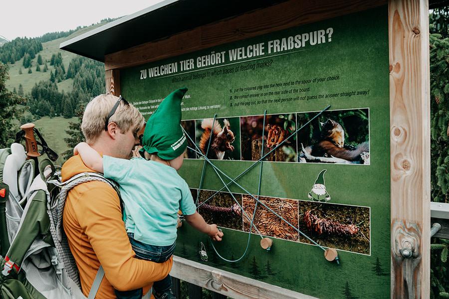 A Tasty Hike - Saalbach Hinterglemm mit Kindern - Talschluss - Infotafel