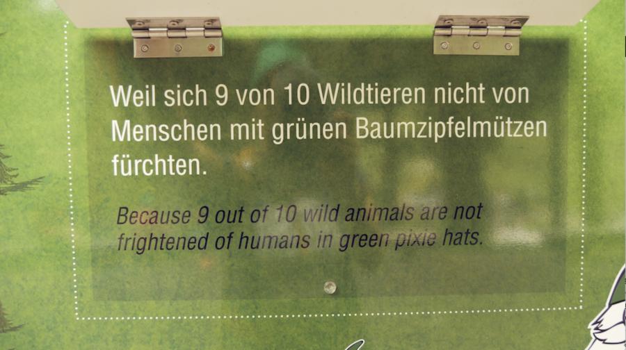 A Tasty Hike - Saalbach Hinterglemm mit Kindern - Talschluss - Schild