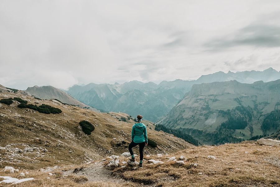A Tasty Hike - Grosser Daumen Wanderung - Grosser Daumen Wandern - Allgaeu - Aussicht Anfang