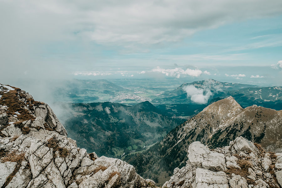 A Tasty Hike - Grosser Daumen Wanderung - Grosser Daumen Wandern - Allgaeu - Aussicht Gipfel