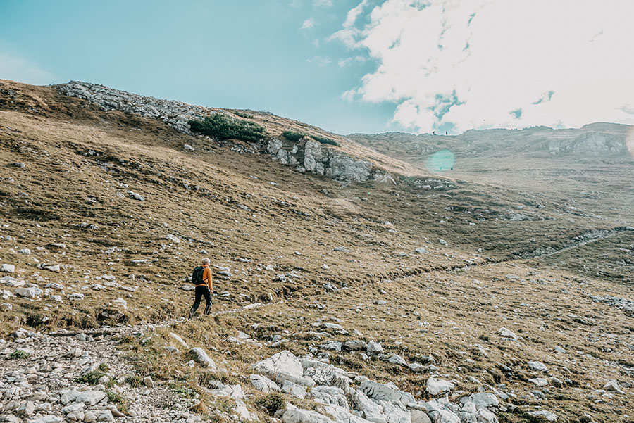 A Tasty Hike - Grosser Daumen Wanderung - Grosser Daumen Wandern - Allgaeu - Erster Anstieg