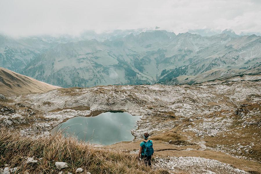 A Tasty Hike - Grosser Daumen Wanderung - Grosser Daumen Wandern - Allgaeu - Laubichelsee von oben