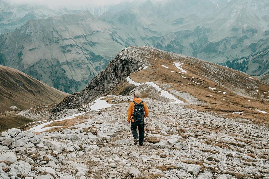 A Tasty Hike - Grosser Daumen Wanderung - Grosser Daumen Wandern - Allgaeu - Rueckweg