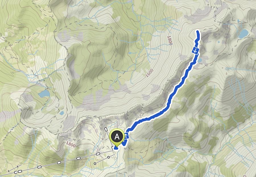 A Tasty Hike - Grosser Daumen Wanderung - Grosser Daumen Wandern - Allgaeu - Wanderkarte