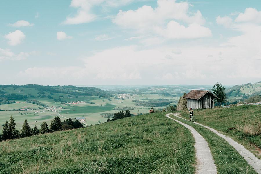 A Tasty Hike - Gruenten Wandern - Lustiger Wanderweg Allgaeu - Aussicht