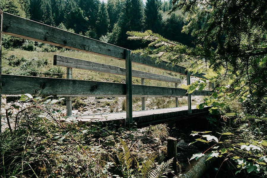 A Tasty Hike - Gruenten Wandern - Lustiger Wanderweg Allgaeu - Bruecke