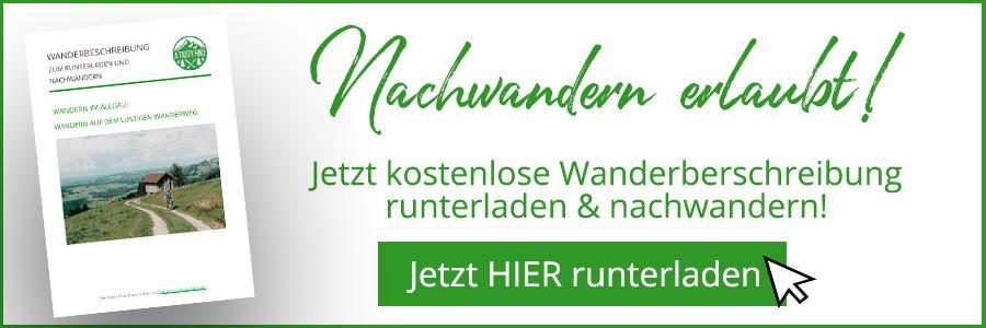 A Tasty Hike - Gruenten Wandern - Lustiger Wanderweg Allgaeu - Wanderbeschreibung Banner