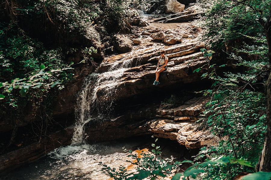 A Tasty Hike - Gruenten Wandern - Lustiger Wanderweg Allgaeu - Wasserfall