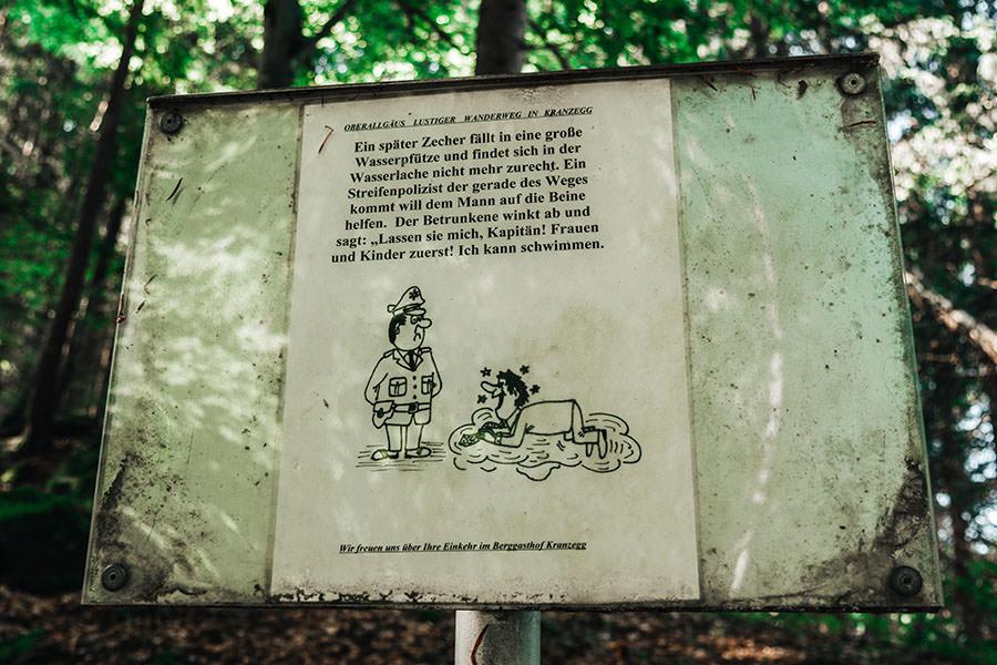 A Tasty Hike - Gruenten Wandern - Lustiger Wanderweg Allgaeu - Witz