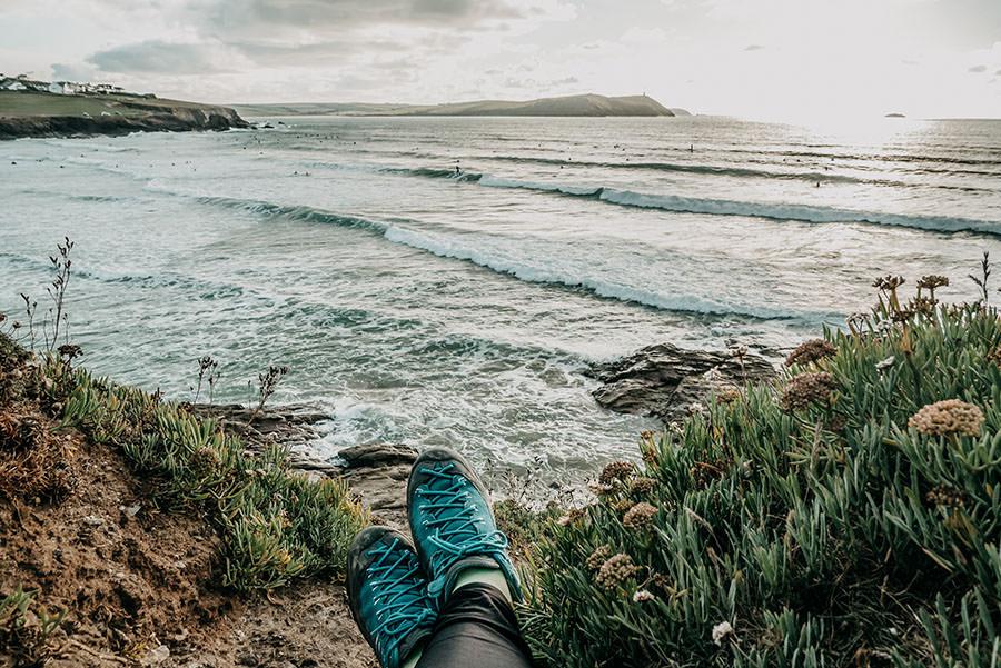 A Tasty Hike - Kuestenwanderung Cornwall - Polzeath - Ausblick Meer