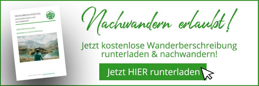A Tasty Hike - Schrecksee Wanderung - Schrecksee Wandern - Allgaeu Wanderbeschreibung Banner