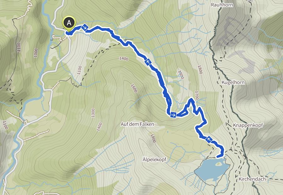 A Tasty Hike - Schrecksee Wanderung - Schrecksee Wandern - Allgaeu Wanderkarte
