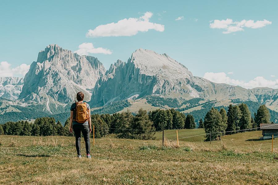 Seiser Alm Wandern - A Tasty Hike - Genusswanderung - Dolomiten Aussicht