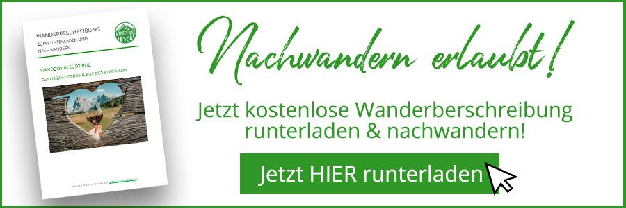 Seiser Alm Wandern - A Tasty Hike - Genusswanderung - Wanderbeschreibung Banner