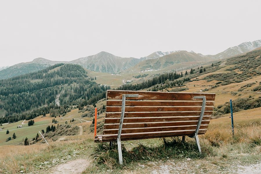 A Tasty Hike - Serfaus Wandern - Panorama Genussweg - Bank