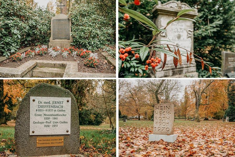 Tagesausfluege Hessen - Secret Places in Hessen - Lahntal - Alter Friedhof - Giessen - Graeber