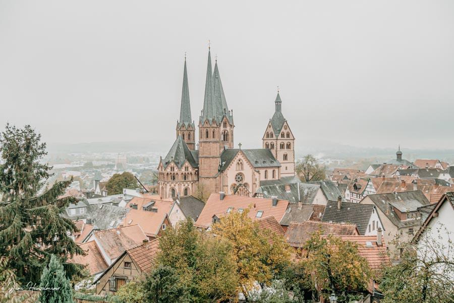 Tagesausfluege Hessen - Secret Places in Hessen - Spessart - Gelnhausen - Aussicht Marienkirche