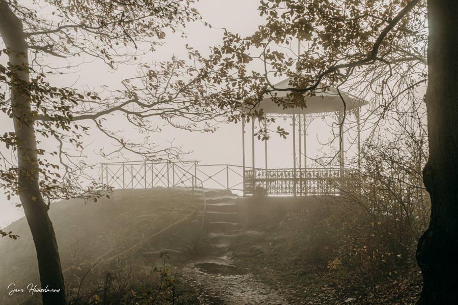 Tagesausfluege Hessen - Secret Places in Hessen - Taunus - Dettweiler Tempel im Nebel