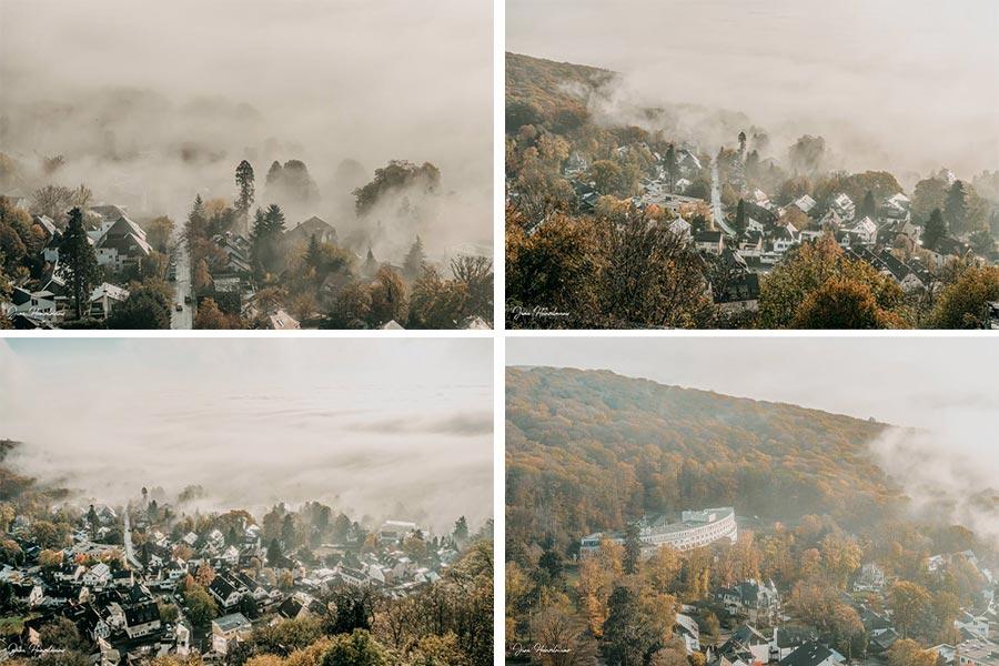 Tagesausfluege Hessen - Secret Places in Hessen - Taunus - Wanderung Dettweiler Tempel - Nebel