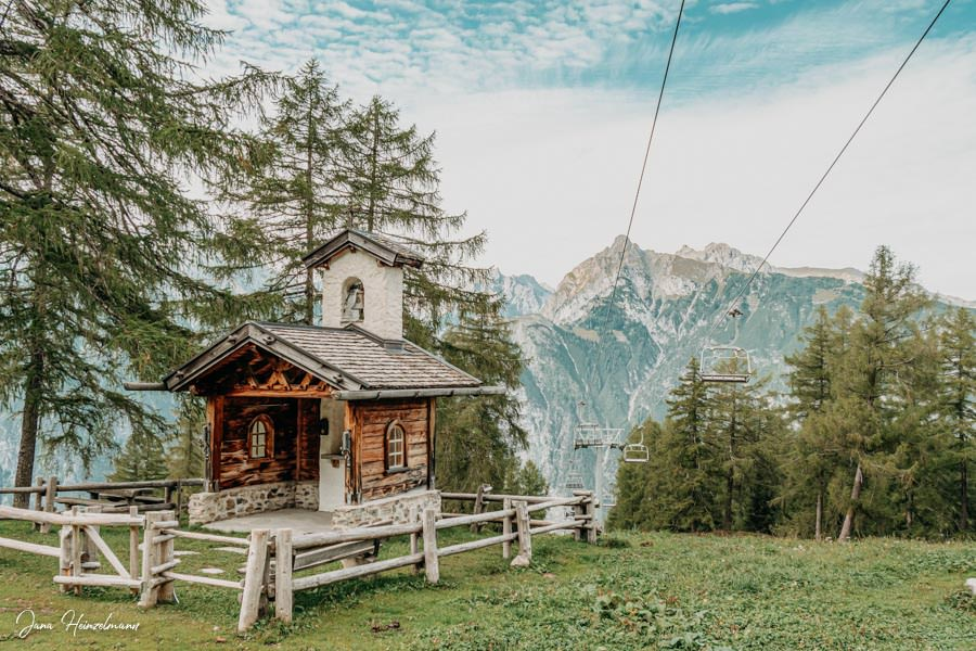 Zammer Alm Genusswanderung bei Zams in Tirol - Kapelle