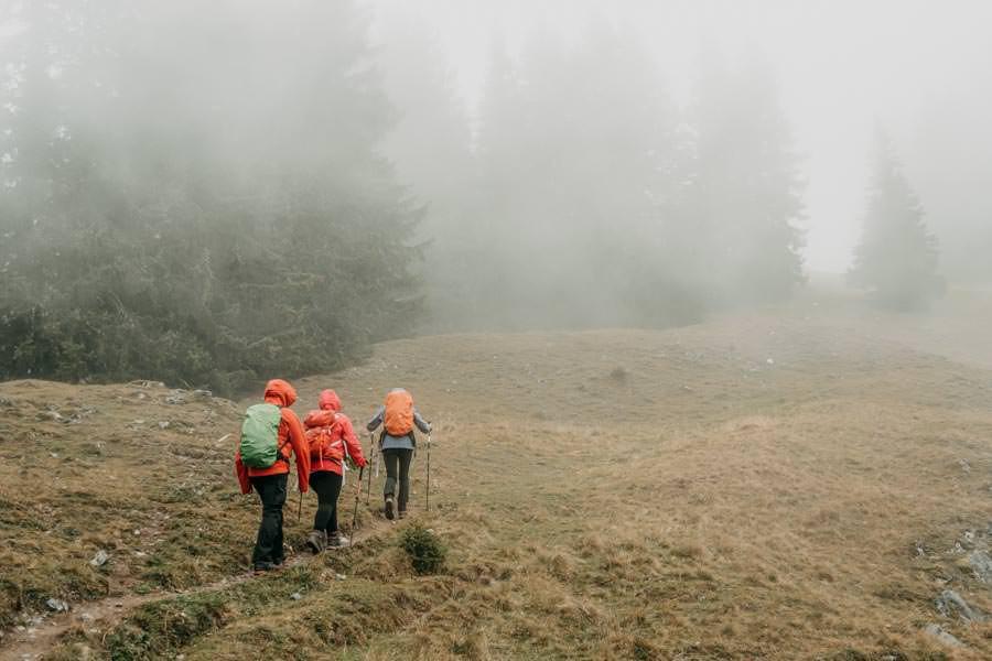 Gefuehrte Wanderungen - sinnvoll oder nicht - Wanderung zum Monteneu im Montafon Wandern im Nebel