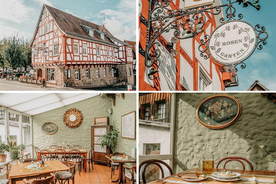 Spessart Steinau an der Strasse Cafe Rosengarten
