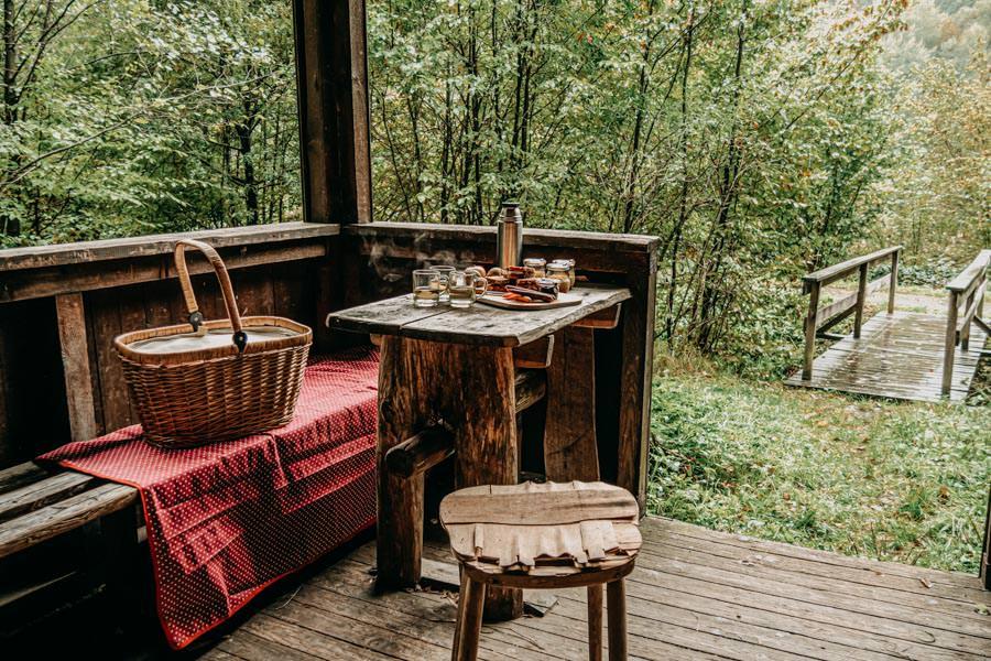 Spessart Wandern Spessartspur Wildromantische HIrschbornteiche - Picknickplatz