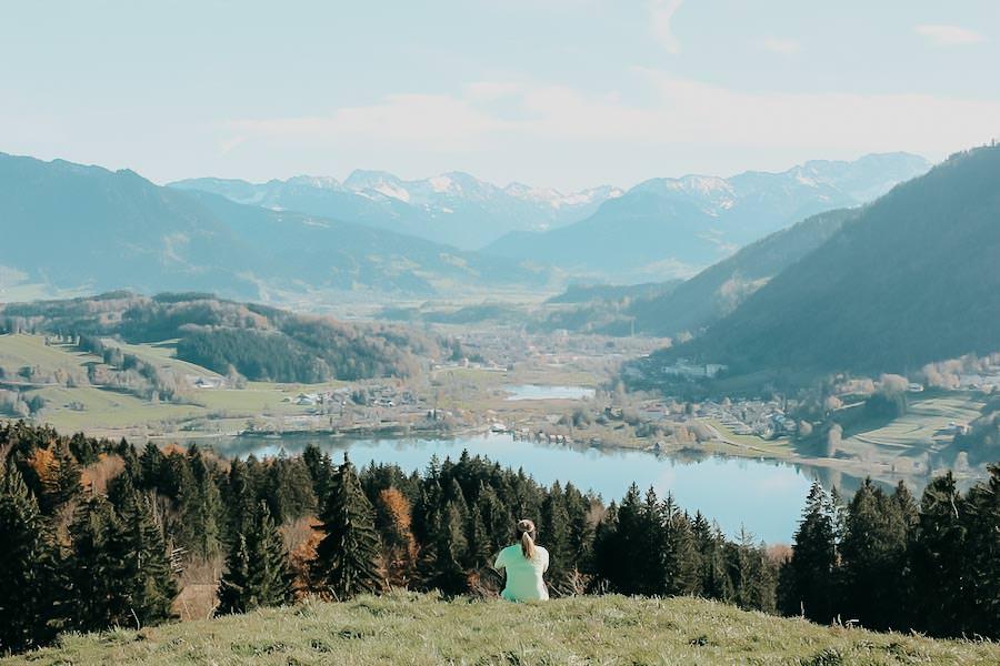Alpsee wandern - 5 Genusswanderungen am Alpsee im Allgaeu - Alpseeblick
