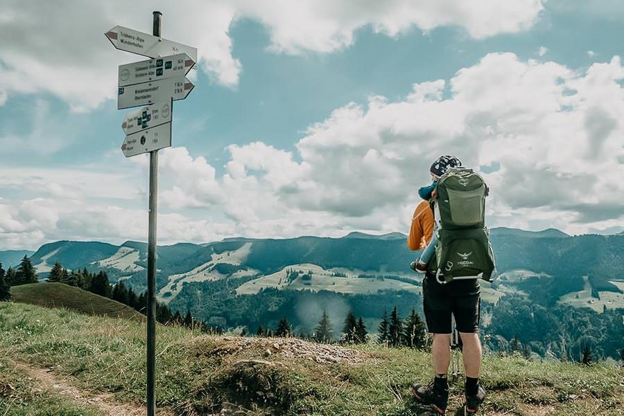 Alpsee wandern - 5 Genusswanderungen am Alpsee im Allgaeu - Salmaser Hoehe